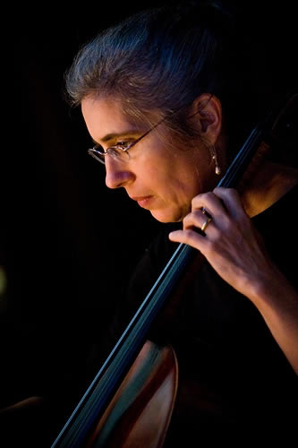 Cello player part of Phyllis Lynch and Friends Trio