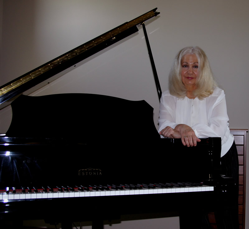 Phyllis at her Grand Piano